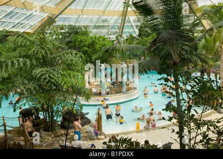 Indoor Swimming Pool Center Parcs De Femhof Netherlands Stock Photo Royalty Free Image