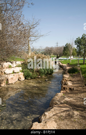 Israel Jezreel Valley Maayan Harod the Spring of Harod National Park - Stock Photo