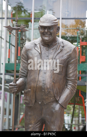 The Fred Dibnah statue in Lancashire UK - Stock Photo