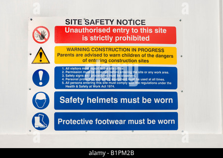 health and safety awareness and warning signs for site safety stock photo royalty free image