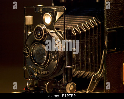 old historic camera Voigtländer from about 1914 - Stock Photo