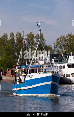Fishing boats in the harbour Leba Baltic Sea Poland