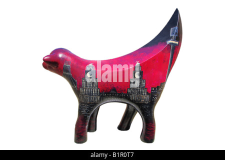 Cut out image of one of 120 Superlambanana sculptures placed in and around Liverpool to celebrate the Capital of - Stock Photo