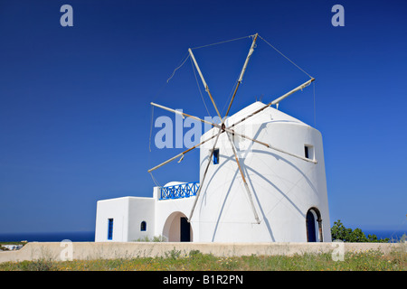Windmill on Santorini island - Stock Photo