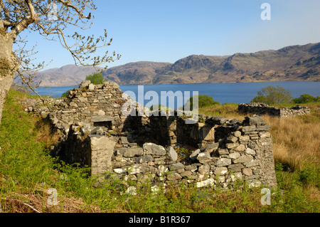 Deserted croft, Loch  Morar, Highlands, Scotland - Stock Photo
