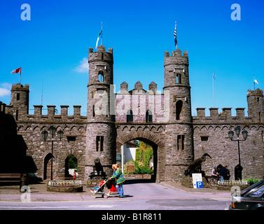 Macroom Castle, Co Cork, Ireland - Stock Photo