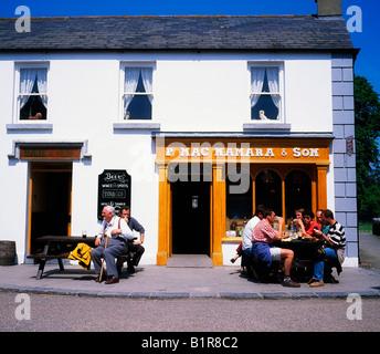 Bunratty, Co Clare, Ireland, Pub in Bunratty Folk Park - Stock Photo