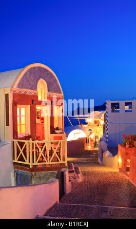 Traditional house in Oia village on Santorini