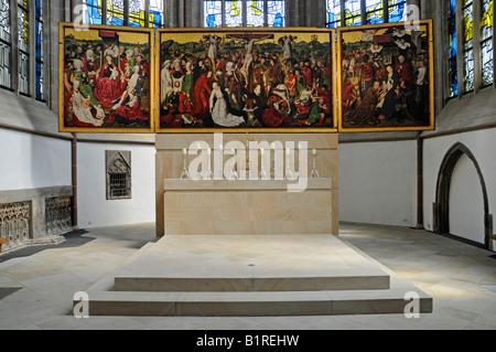 Winged alter of the Propsteikirche Church, Dortmund, North Rhine-Westphalia, Germany, Europe - Stock Photo