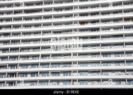 High-rise apartment building in Berlin, Germany, Europe - Stock Photo