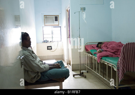 Private rooms like this one are already a luxury in Indian private hospitals that only a few can afford, Howrah, - Stock Photo