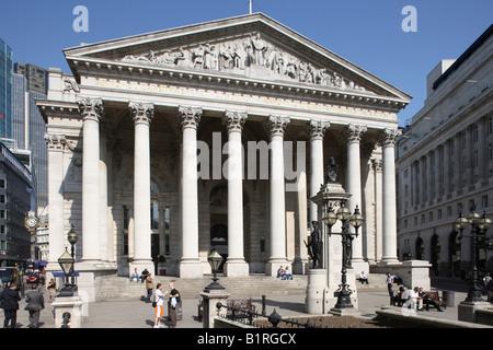Royal Exchange, London, England, Great Britain, Europe - Stock Photo