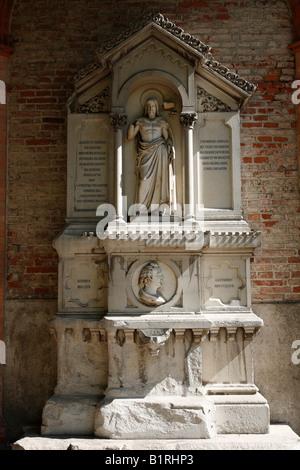 Tomb of Friedrich von Gaertner, Alter Suedlicher Friedhof, Old Southern Churchyard, Isarvorstadt, Munich, Bavaria, - Stock Photo