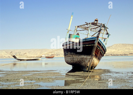 Ship cemetery at Sur, Oman, Arabian Peninsula, Middle East - Stock Photo