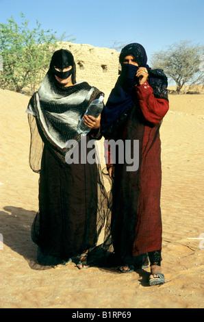 Local woman wearing traditional burka, Oman, Arabia, Arabic Peninsula, Middle Asia, Asia - Stock Photo