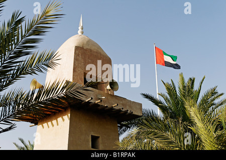 Mosque in the Open Air Museum Heritage Village, Abu Dhabi City, Emirat Abu Dhabi, United Arab Emirates, Asia - Stock Photo