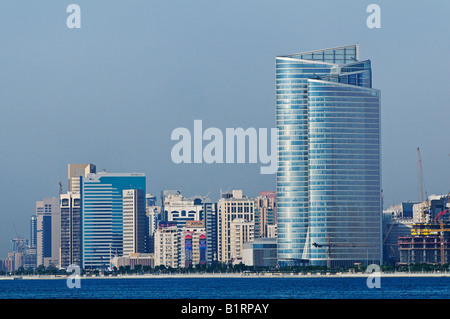 Skyline of the Abu Dhabi City, Emirat Abu Dhabi, United Arab Emirates, Asia - Stock Photo