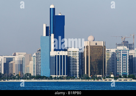 Horizon/skyline of the Abu Dhabi City, Emirat Abu Dhabi, United Arab Emirates, Asia - Stock Photo