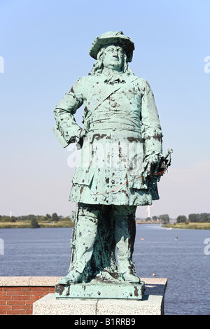 Statue, East Frisia, Lower Saxony, Germany, Europe - Stock Photo