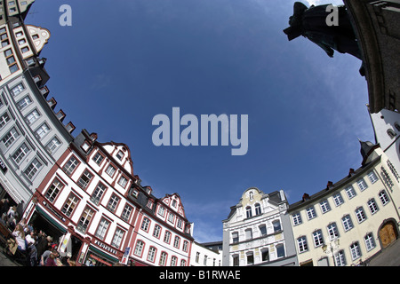 Jesuitenplatz Square in the historic centre of Koblenz, Rhineland-Palatinate, Germany, Europe - Stock Photo