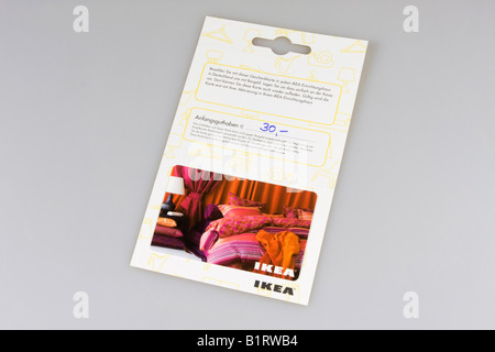 ikea advertisement gift card stock photo 30367663 alamy. Black Bedroom Furniture Sets. Home Design Ideas