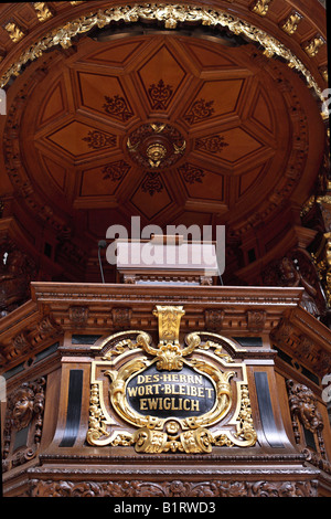 Pulpit, Berliner Dom, Berlin Cathedral, Berlin, Germany, Europe - Stock Photo