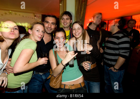 People partying in the China Lounge in the Reeperbahn red-light district, Nobistor, Sankt Pauli, Hamburg, Germany - Stock Photo