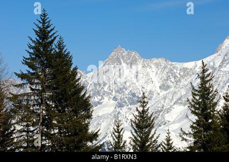 Mt. Aiguille du Midi, Mont Blanc Massif, Chamonix, Savoyen area, France, Europe - Stock Photo