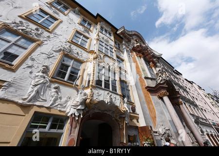 Asamhaus and Asamkirche Church, Sendlinger road, Munich, Bavaria, Germany, Europe - Stock Photo