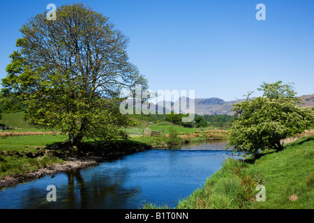 Elter Water The Spring Colours Around The Lake In May, 'The Lake District' Cumbria England UK - Stock Photo