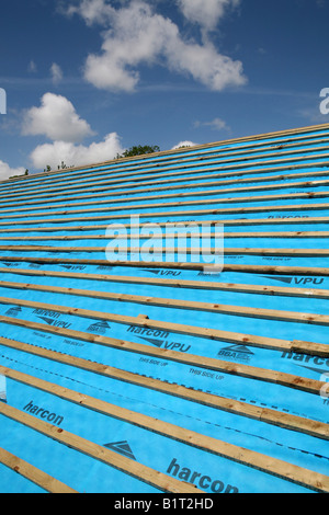 Breathable Roofing Felt And Battens Stock Photo Royalty
