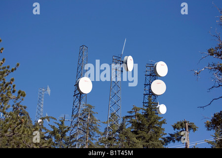 One of the many communication towers scattered across the world. - Stock Photo