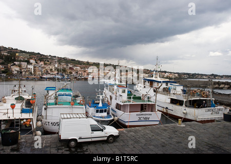 Aci Trezza Harbor Sicily - Stock Photo