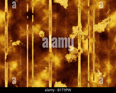 A very detailed and figured ornamental texture, grunge and rusty - Stock Photo