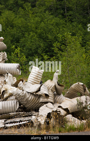 Salvaged Aluminum culverts. - Stock Photo