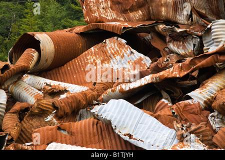 Salvaged 'galvanized' culverts - Stock Photo