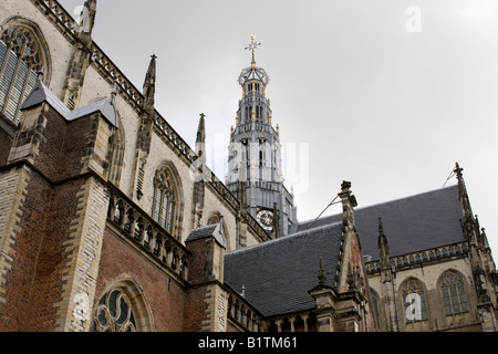 Great Bavo church in the Netherlands - Stock Photo