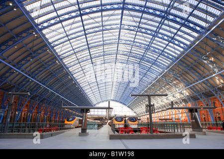 UK London St Pancras interior - Stock Photo