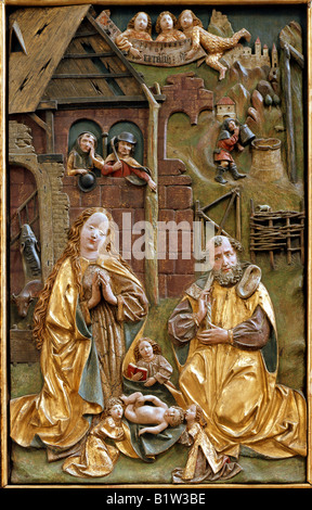 AT - LOWER AUSTRA: Altarpiece at Maria Laach Abbey - Stock Photo