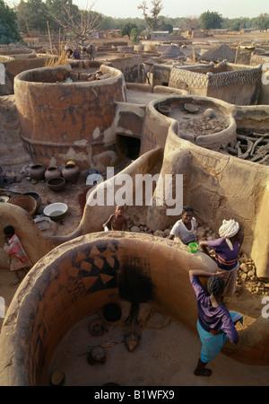 Burkina Faso West Africa Tiebele Traditional Village Of