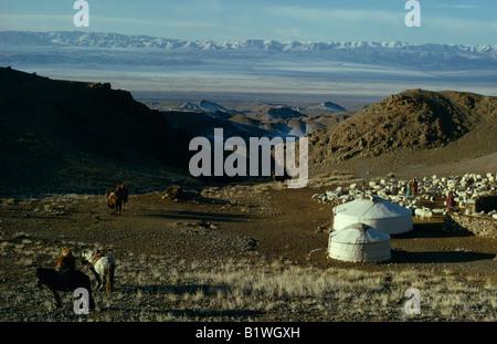 MONGOLIA Gobi Desert - Stock Photo