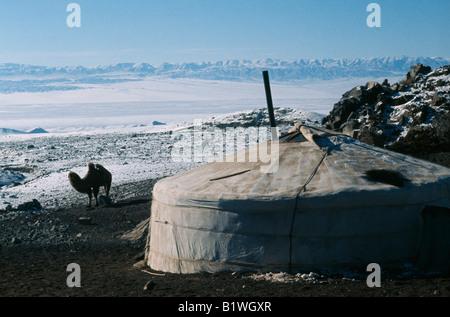MONGOLIA Gers/Yurts - Stock Photo