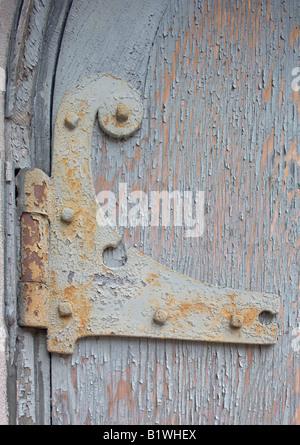 Hinge and Door in Pastel, Boston - Stock Photo