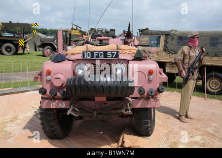 S.A.S. 'pink panther' Land rover - Stock Photo