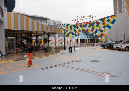 Brand new modern shopping mall and cinema in Maputo, Mozambique - Stock Photo
