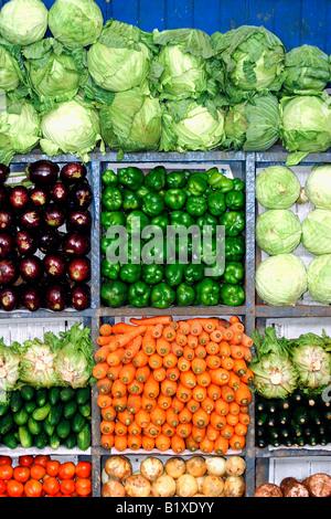Vegetable Market Stall in Nairobi Kenya - Stock Photo