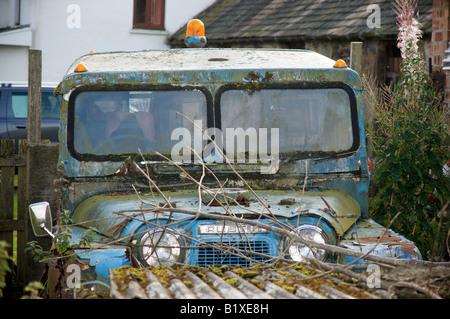 Abandoned Austin Gipsy vehicle - Stock Photo