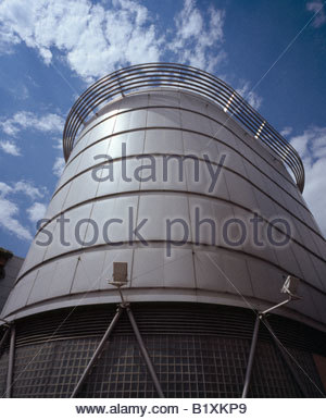 Modern architecture at the Oracle car park, Reading, Berkshire, England, UK. - Stock Photo