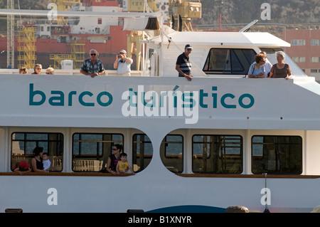Tourist Boat (Barco Turistico) at Cartagena, Murcia, Spain - Stock Photo