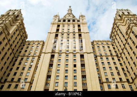 Stalin-era building at Kudrinskaya Square (1954), Moscow, Russia - Stock Photo